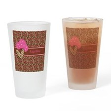 Paisley Polka Dots Personalized Drinking Glass