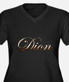 Gold Dion Plus Size T-Shirt