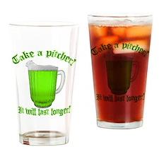 Funny It last longer Drinking Glass