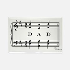 dad (piano) Rectangle Magnet