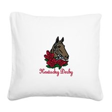 Kentucky Derby Square Canvas Pillow