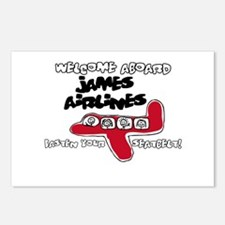 James Airlines Postcards (Package of 8)