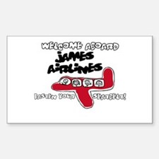 James Airlines Rectangle Decal