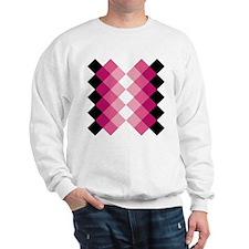 Unique Plaid pink Sweatshirt