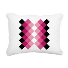 Cute Black diamond Rectangular Canvas Pillow