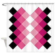 Cute Argyle Shower Curtain