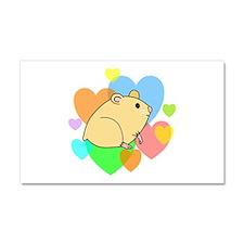 Hamster Hearts Car Magnet 20 x 12