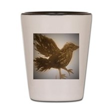 Gold bird  Shot Glass