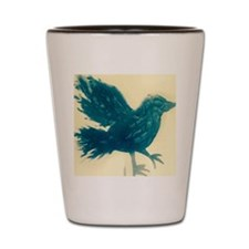 Blue bird Shot Glass