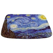The Starry Night Vincent Van Gogh Bathmat