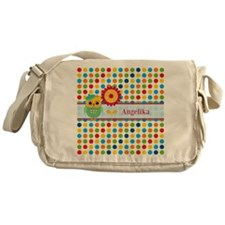 Cute Owl and Polka Dots Personalized Messenger Bag