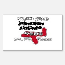 Johnathan Airlines Rectangle Decal