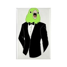 Parrotlet Tuxedo Rectangle Magnet