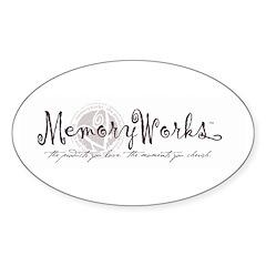 MemoryWorks Logo Oval Decal