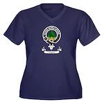 Badge - Gayr Women's Plus Size V-Neck Dark T-Shirt