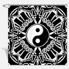 Cute Yin yang Shower Curtain