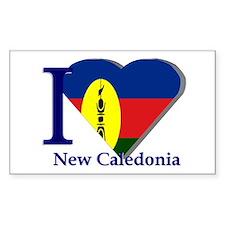 I love New Caledonia Rectangle Decal
