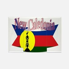 New Caledonian flag ribbon Rectangle Magnet