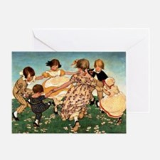 Round the Ring of Roses Greeting Card