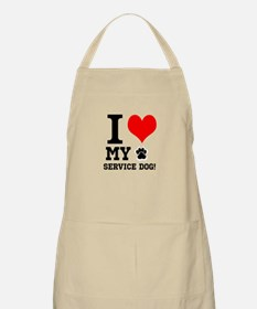 I LOVE MY SERVICE DOG! Apron