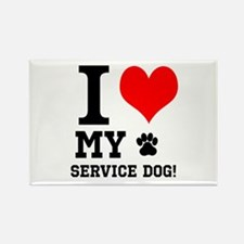 I LOVE MY SERVICE DOG! Magnets