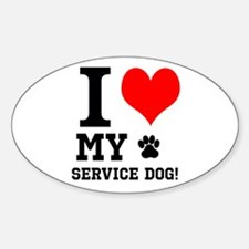 I LOVE MY SERVICE DOG! Decal