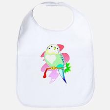 Cute Parakeets Bib
