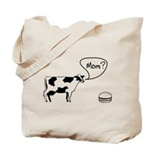 Cow to burger mom Tote Bag