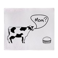 Cow to burger mom Throw Blanket