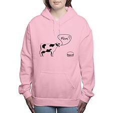 Cow to burger mom Women's Hooded Sweatshirt