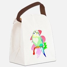 Cute Budgerigars Canvas Lunch Bag