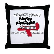 Kevin Airlines Throw Pillow