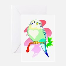 Rainbow Parakeet Greeting Cards