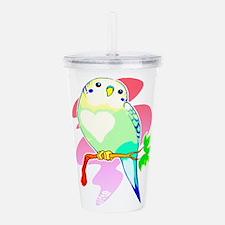 Cute Pet bird Acrylic Double-wall Tumbler