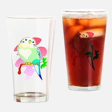 Cute Parakeet Drinking Glass
