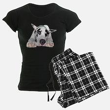 Great Dane Shy Harlequin Pajamas
