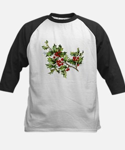 Holly Berries 002 Baseball Jersey