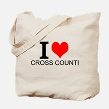 I Love Cross Country Tote Bag