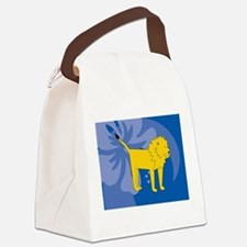 Funny Food lion Canvas Lunch Bag