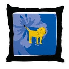 Funny Laura lion Throw Pillow