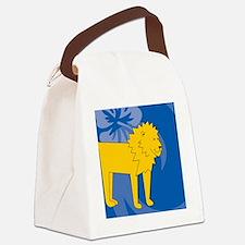 Unique White lion Canvas Lunch Bag