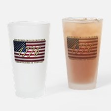 USA Flag 1776 Drinking Glass