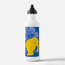 Cute Manatee community college Water Bottle