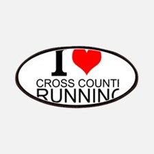 I Love Cross Country Running Patches