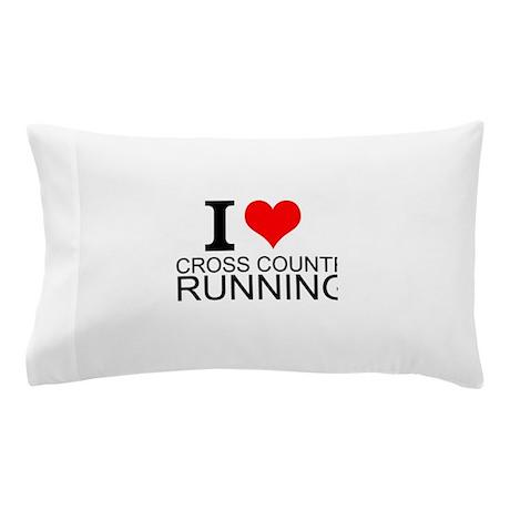 I Love Cross Country Running Pillow Case & Cross Country Running Bedding   CafePress pillowsntoast.com