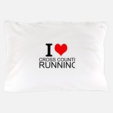 I Love Cross Country Running Pillow Case