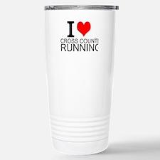 I Love Cross Country Running Travel Mug