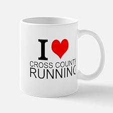 I Love Cross Country Running Mugs