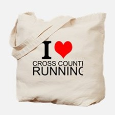 I Love Cross Country Running Tote Bag