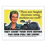 Newfangled Voting Machines Small Poster